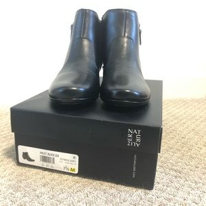 Naturalizer Haley Leather Ankle Boots NIB
